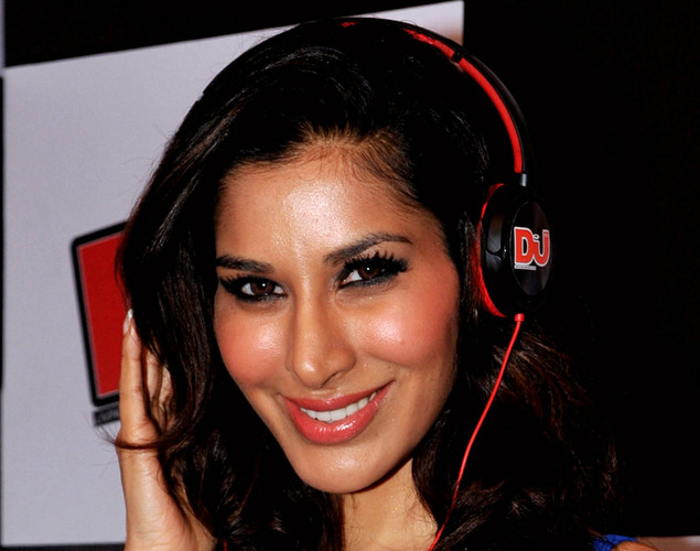 Indian actress and Sophie Choudhry poses during the DJ Mag launch event in Mumbai.