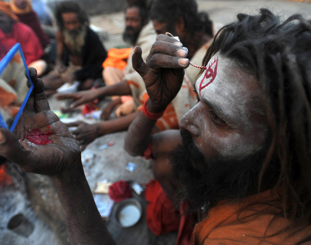 "Being a sadhu is the ""fourth phase"" in a Hindu's life, after education, fatherhood and pilgrimage."