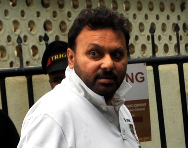 Bollywood director Anil Sharma attends the cremation ceremony of late Indian actor Dara Singh in Mumbai.
