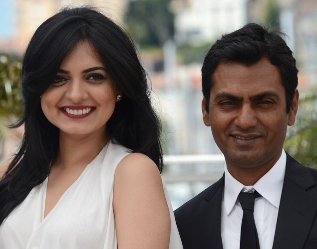 Niharika Singh and Nawazuddin Siddiqui pose during the photocall of 'Miss Lovely' presented in the Un Certain Regard selection at the 65th Cannes film festival.