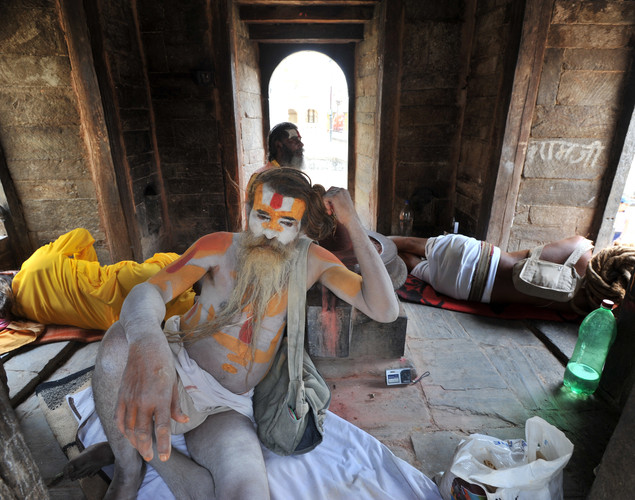 Sadhus supposedly embody religious illumination and liberation from the cycle of birth and death,