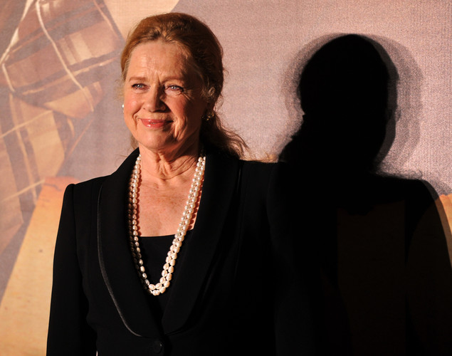 Liv Ullmann, a Norwegian actress and film director poses for the media after arriving at the green carpet to attend the premier of the new movie 'Shanghai' during the International Indian Film Academy (IIFA) awards event, in Singapore.