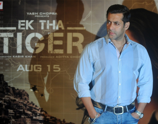 Bollywood actor Salman Khan attends the promotional event for his upcoming film Ek Tha Tiger in Mumbai.