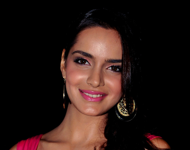 Bollywood actress Shazahn Padamsee poses during the DJ Mag launch event in Mumbai.