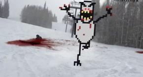 (Video) 'SkiFree' en la vida real