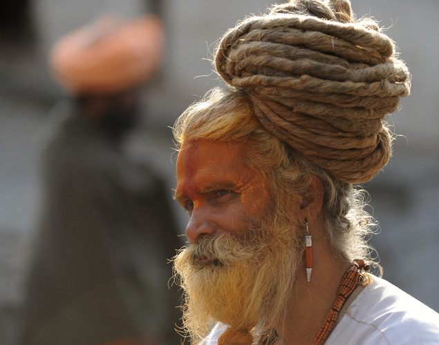 Sadhus do not have material or sexual attachments and live in temples, caves and forests across India and Nepal