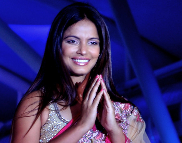 Bollywood film actress Nitu Chandra walks the ramp during the seventh annual Pidilite-CPAA Charity Fashion Show showcasing designers Manish Malhotra and Shaina NC in support of the Cancer Patients Aid Association.