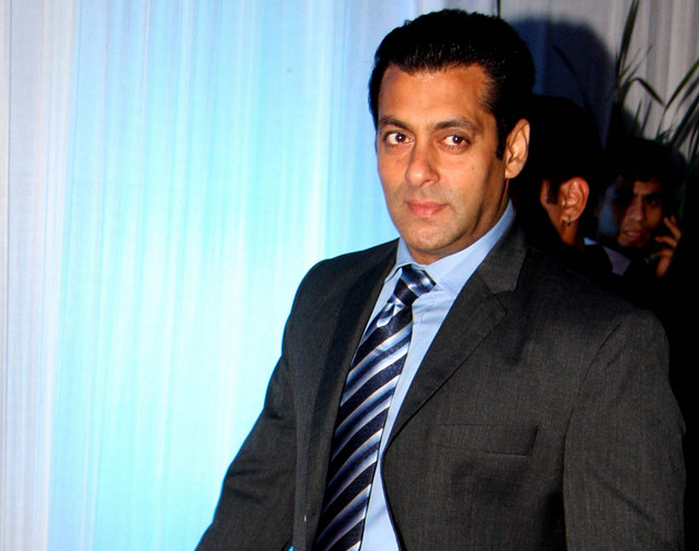 Bollywood film actor Salman Khan poses during the wedding reception of film actress Esha Deol and husband Bharat Takhtani in Mumbai.