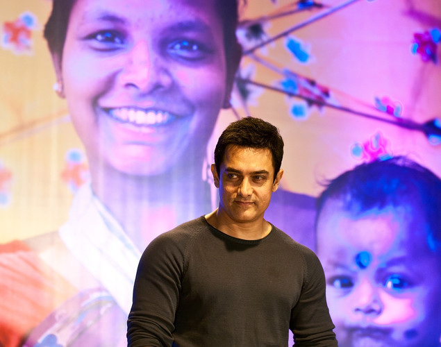 Indian Bollywood actor and UNICEF India brand ambassador Aamir Khan