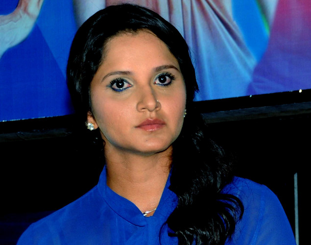 Indian tennis player Sania Mirza poses during the launch of the 'Marks For Sports' campaign created by the Fit India Movement in Mumbai.