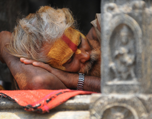 Sadhus usually engage in hatha yoga, devotional worship and fasting.