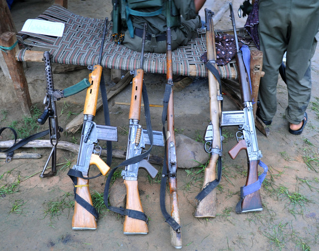 Security forces gunned down 17 suspected Maoists