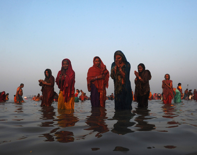 Half of India's population lives on or depends on the banks of the Ganges river.