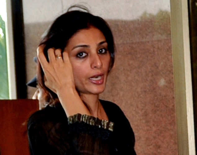 Indian Bollywood actress Tabbu attends a prayer function in memory of late actor Rajesh Khanna in Mumbai.