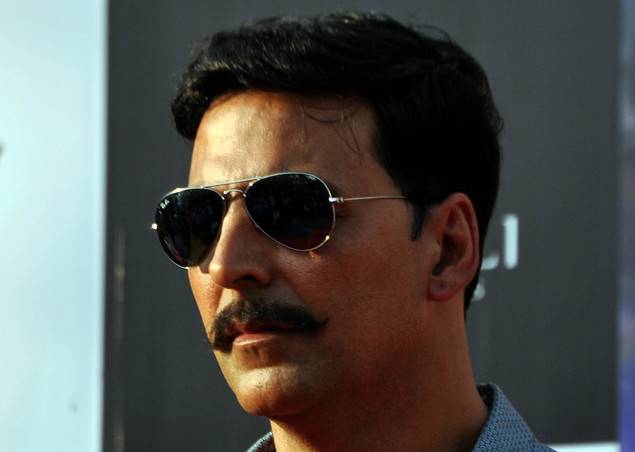 Akshay Kumar poses for a photo during a promotion for the  upcoming Hindi film Rowdy Rathore