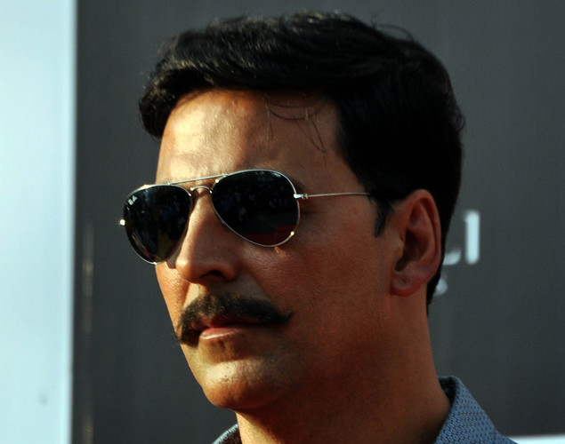 Akshay Kumar poses for a photo during a promotion for the  upcoming Hindi film Rowdy Rathore in Mumbai