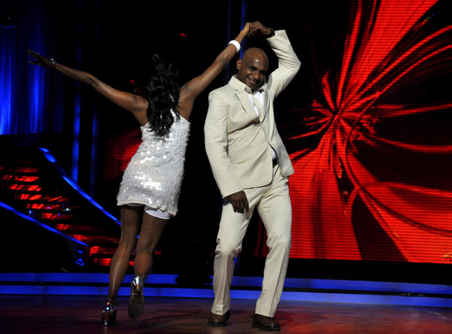 Sri Lankan cricketer Sanath Jayasuriya performs during 'Jhalak Dikhhla Jaa'