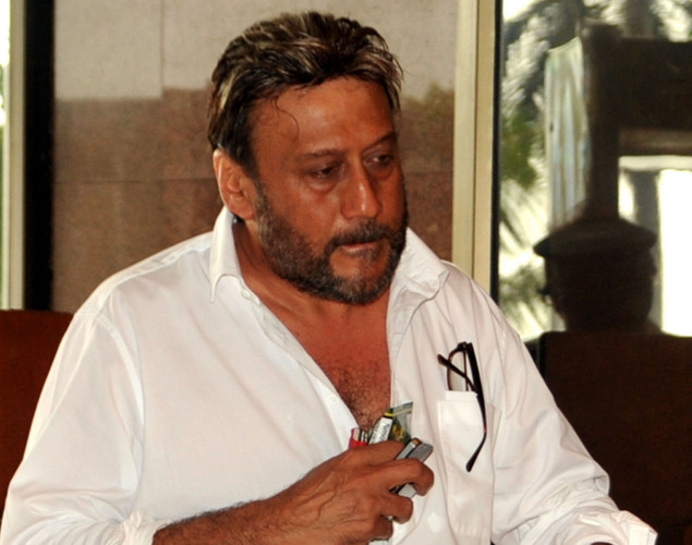 Indian Bollywood actor Jackie Shroff attends a prayer function in memory of late actor Rajesh Khanna in Mumbai.