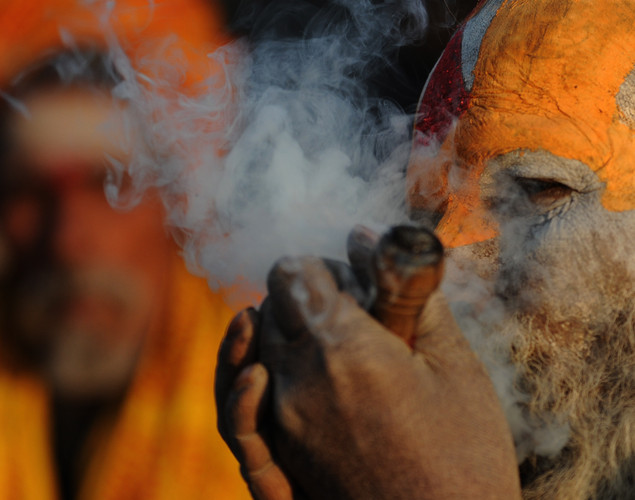 Caste backgrounds often influences which sect sadhus are admitted to.