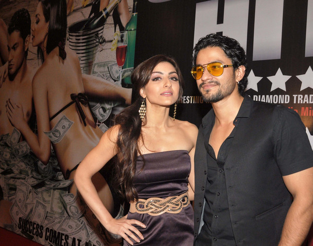 Soha Ali Khan (L) and her boyfriend, film actor Kunal Khemu attend the success party for the cast of Hindi film 'Blood Money' in Mumbai.