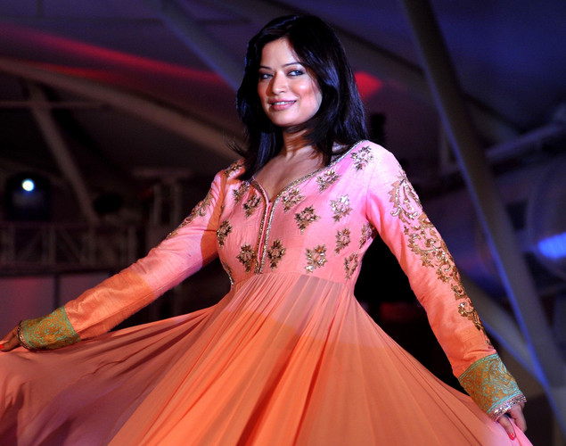 Bollywood film actress Arzoo Govitrikar walks the ramp during the seventh annual Pidilite-CPAA Charity Fashion Show showcasing designers Manish Malhotra and Shaina NC in support of the Cancer Patients Aid Association (CPAA) in Mumbai.