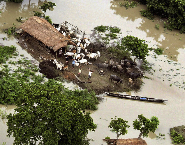 This year, floods from monsoon rains in northeastern India killed dozens of people.