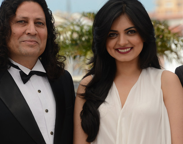 Anil George and Niharika Singh poses during the photocall of 'Miss Lovely' presented in the Un Certain Regard selection at the 65th Cannes film festival.