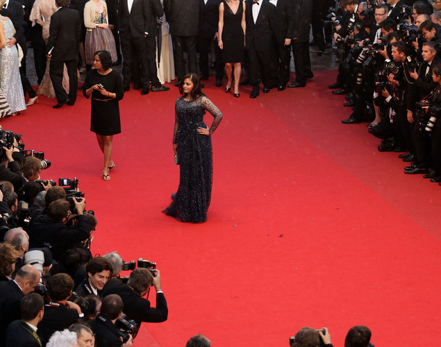 Aishwarya Rai attends the 'Cosmopolis' premiere during the 65th Annual Cannes Film Festival at Palais des Festivals.