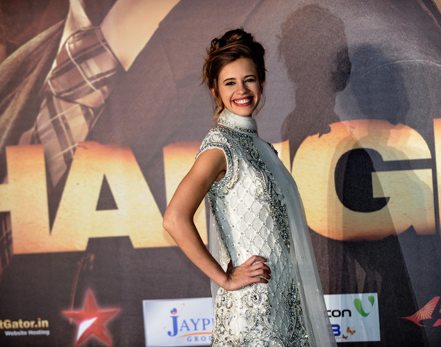 Kalki Koechlin, an Indian film actress of French descent arrives on the green carpet for the International Indian Film Academy (IIFA) World Premier, Shanghai, at the Lido cinema in Singapore.