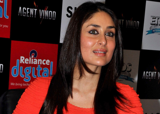 Kareena Kapoor attends a press conference for the promotion of Agent Vinod