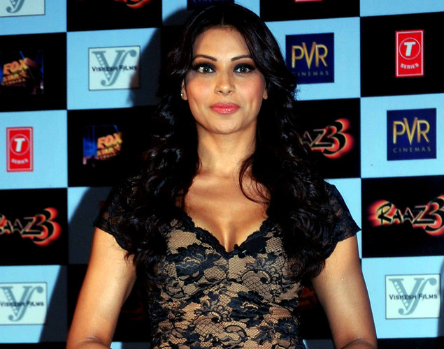 Bollywood film actress Bipasha Basu poses during the launch of the first trailer of upcoming Hindi horror thriller film 'Raaz 3' directed by Vikram Bhatt in Mumbai.