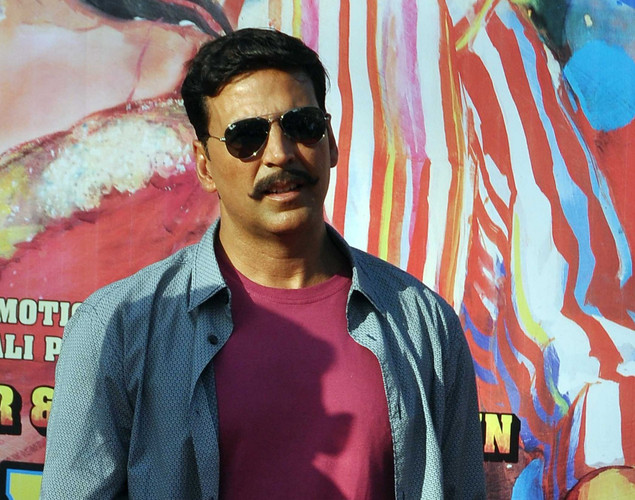 Akshay Kumar poses for a photo during a promotion for the  upcoming Hindi film Rowdy Rathore in Mumbai.