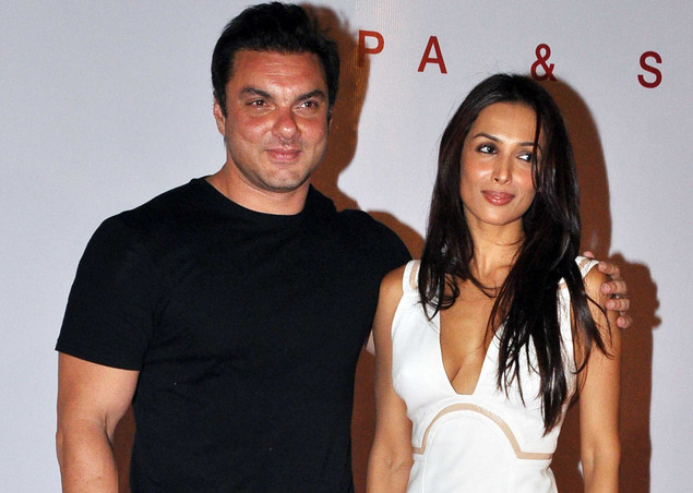 Sohail Khan (L) and Malika Arora Khan attend the launch of the Kallista Spa and Salon in Mumbai on April 20, 2012.