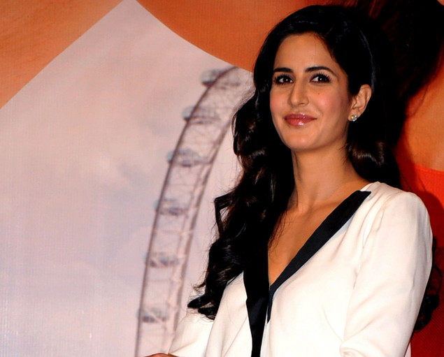 "Katrina Kaif poses during a promotional event for the Hindi film""Jab Tak Hai Jaan"" in Mumbai."