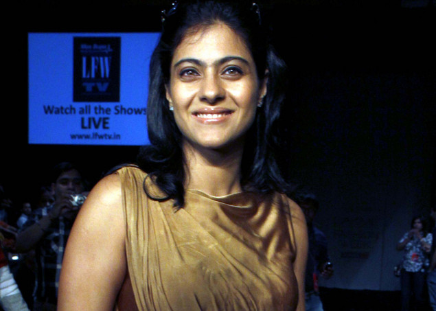 Kajol Devgan attends the fourth day of Lakme Fashion Week (LFW) summer resort 2012