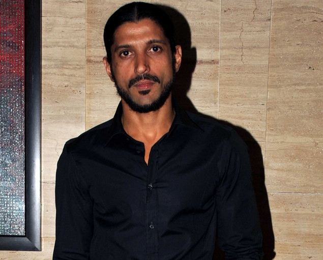 "Farhan Akhtar poses during a party event for the Hindi film ""Talaash"" in Mumbai on December 10, 2012."