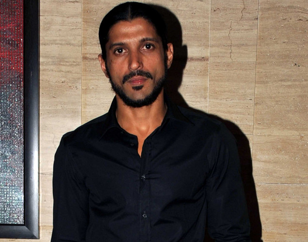 "Bollywood actor  Farhan Akhtar poses during a party event for the Hindi film ""Talaash"" in Mumbai."