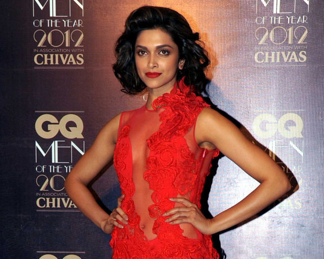Deepika Padukone poses at the 'GQ Men of the Year Awards 2012' in Mumbai on September 30, 2012.