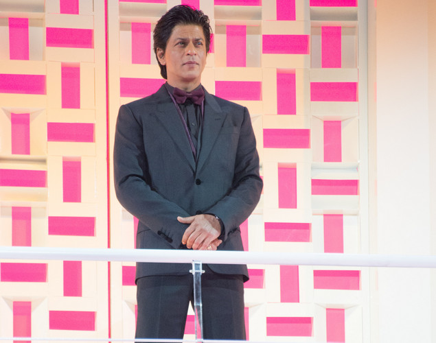 Indian actor Shahrukh Khan attends the tribute to Hindi cinema at the 12th Marrakech International Film Festival.