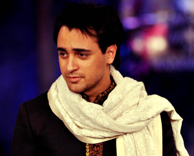 Indian Bollywood actor Imran Khan poses during a fashion show for The Mijwan Welfare Society in Mumbai.