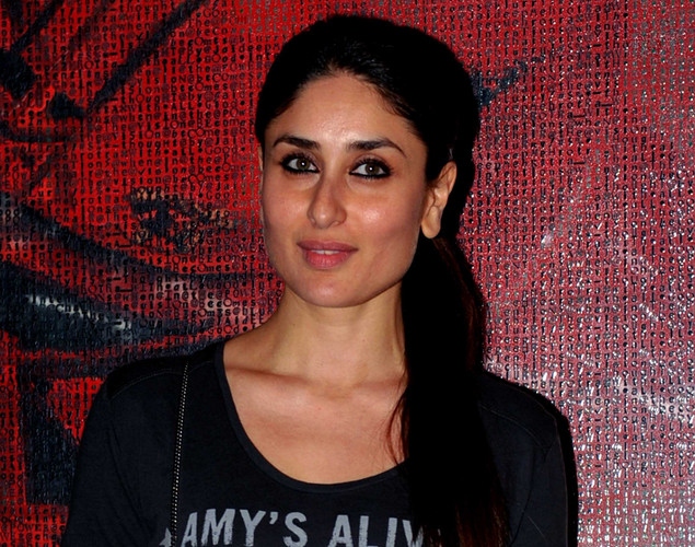 "Bollywood actress Kareena Kapoor Khan poses during a party event for the Hindi film ""Talaash"" in Mumbai."