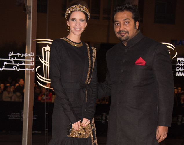 Indian Actress Kalki Koechlin and Indian Director Anurag Kashyap arrive for the tribute to Hindi cinema at the 12th Marrakech International Film Festival.