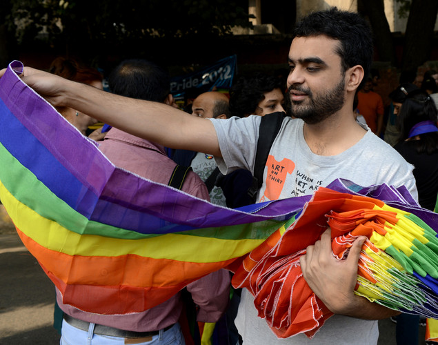 Members of the lesbian, gay, bisexual, transgender (LGBT) community and supporters attend the 5th Delhi Queer Pride parade in New Delhi.