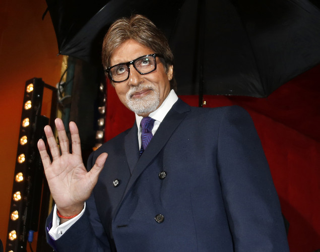 Indian actor Amitabh Bachchan poses during the opening ceremony of the 12th Marrakesh International Film Festival.