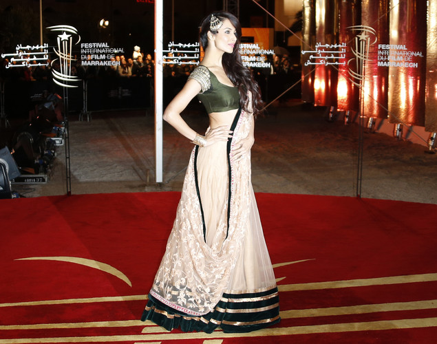 Indian actress Malika Arora Khan arrives at the 12th Marrakesh International Film Festival.