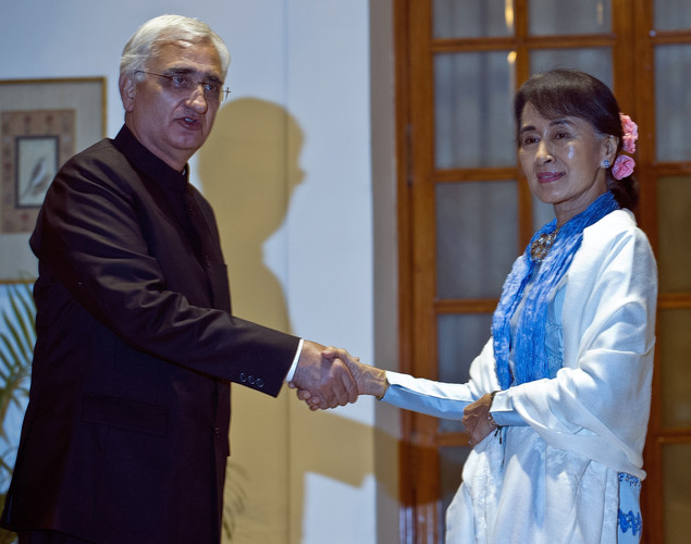 July 1989: Suu Kyi, an increasingly outspoken critic of the junta, is put under house arrest, which continues on-and-off for 15 of the next 22 years. The junta says she can leave the country anytime but she refuses, fearing she won't be allowed to return, and chooses to live apart from her husband and sons. Aris is allowed to visit her five times, the last visit during Christmas 1995.