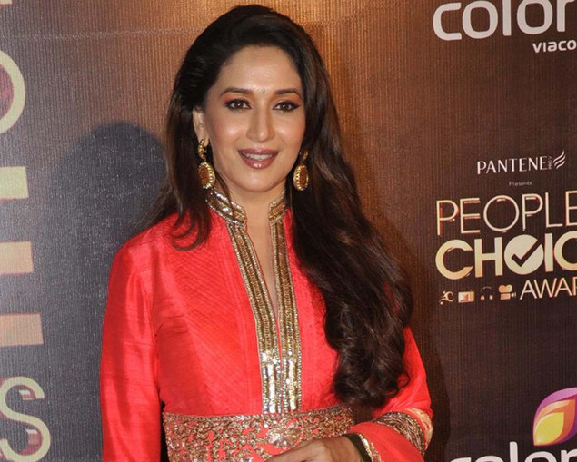 Madhuri Dixit Nene poses as she attends the ?People?s Choice Awards? ceremony in Mumbai late October 27, 2012.