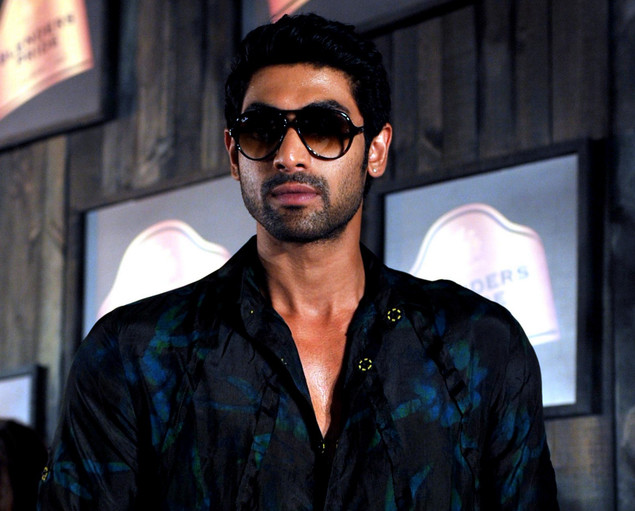 Rana Daggubati poses during a fashion show in Mumbai on September 2, 2012.