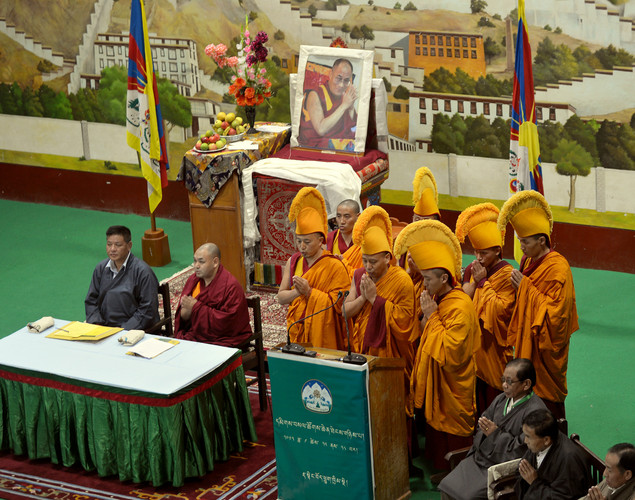 The second special general meeting that is being presided over by Tibetan political leader (earlier called prime minister-in-exile) Lobsang Sangay.