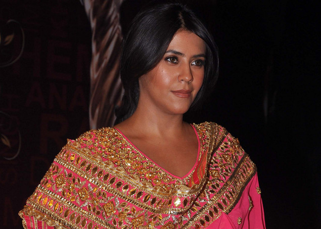 Indian TV and film producer Ekta Kapoor attends the 'Global Indian Film and TV Honours Awards 2012'